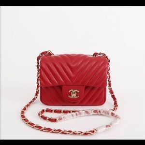 Chanel leboy red bag